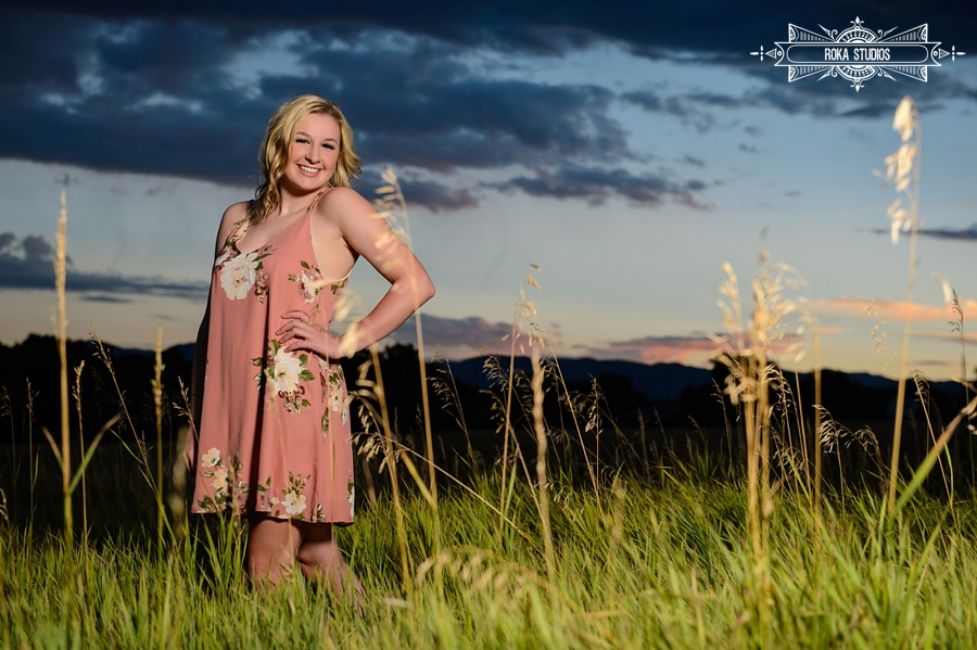 Denver senior pictures at dusk