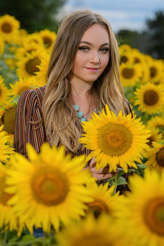 sunflowers and senior photo