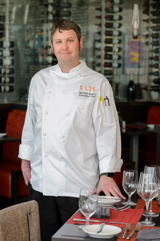 Headshot for the chef of the Denver Art Hotel environmental portrait