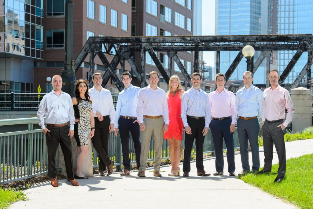 group corporate headshot downtown denver