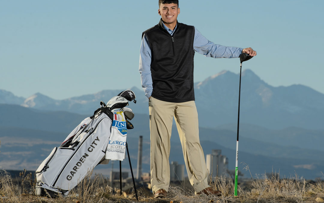Colorado Golf-Senior Portraits-Mountain Views