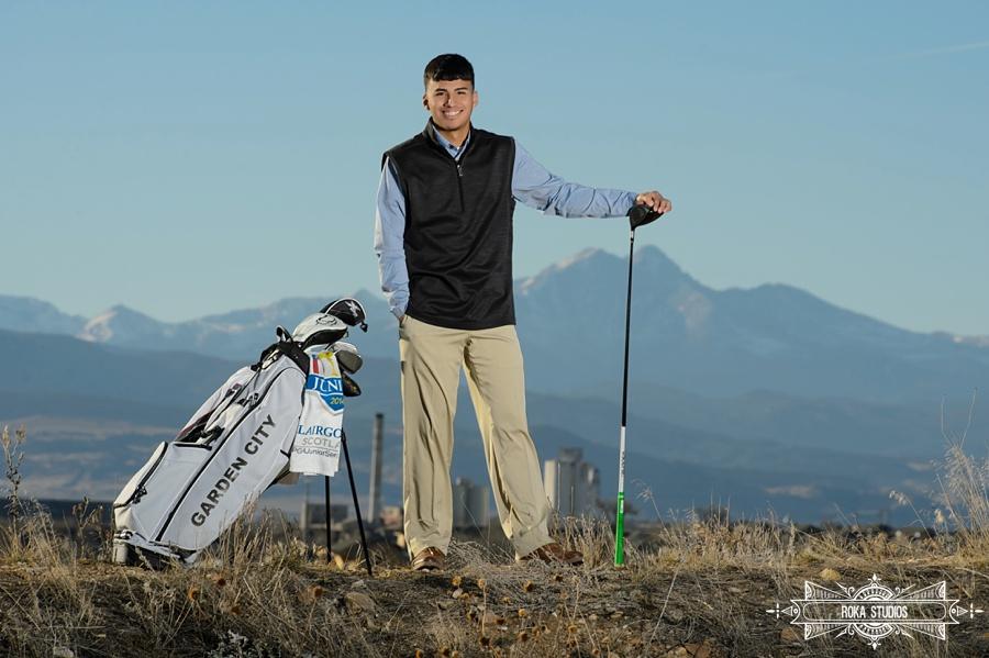 Senior photos with golf