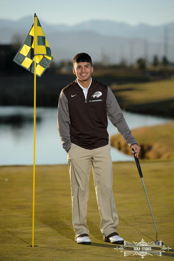 Golf for senior photos