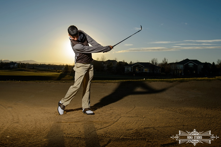 golf senior photos